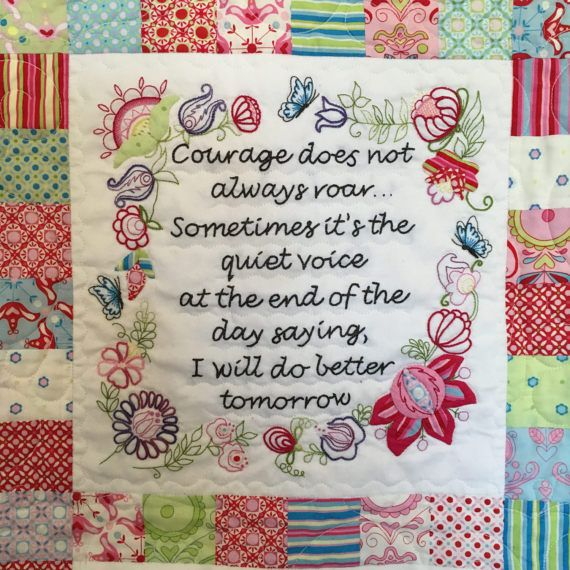 Courage Quilt  Block of the Month Month 1 by PaperQueenQuilting
