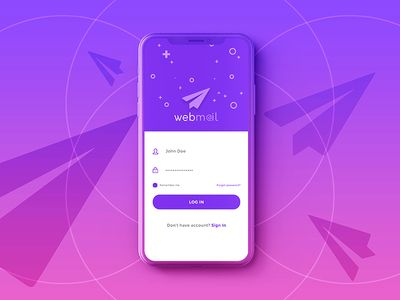 Webmail Login Screen UI/UX Design