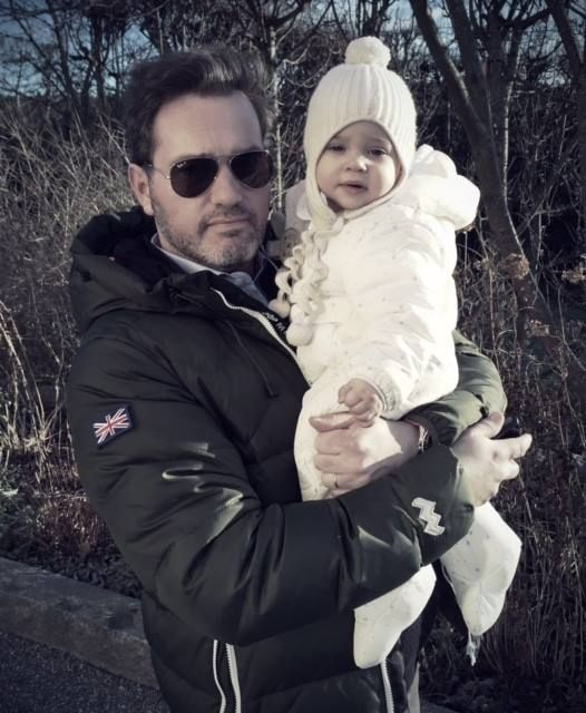 theroyalfirm:  Princess Madeleine sent wishes for a Happy New Year on her Facebook page and posted a picture of husband Chris O'Neill with their daughter Princess Leonore, December 31, 2014
