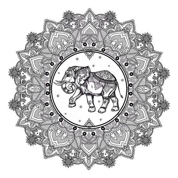 Elephant Mandala Tattoo Tattoos T Tatuajes Elefantes Y: Sets Elephant And Mandala Temporary Tattoos
