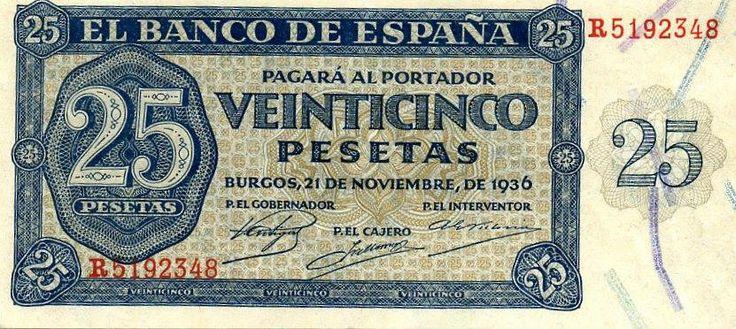 España 1936 25 pesetas