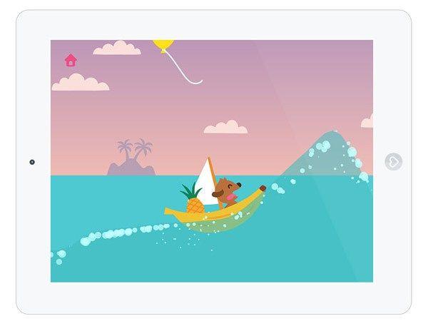 """In der Kinder-Spiele-App """"Sago Mini Boote"""" segelt man mit dem kleinen Hund Harvey über das Meer."""
