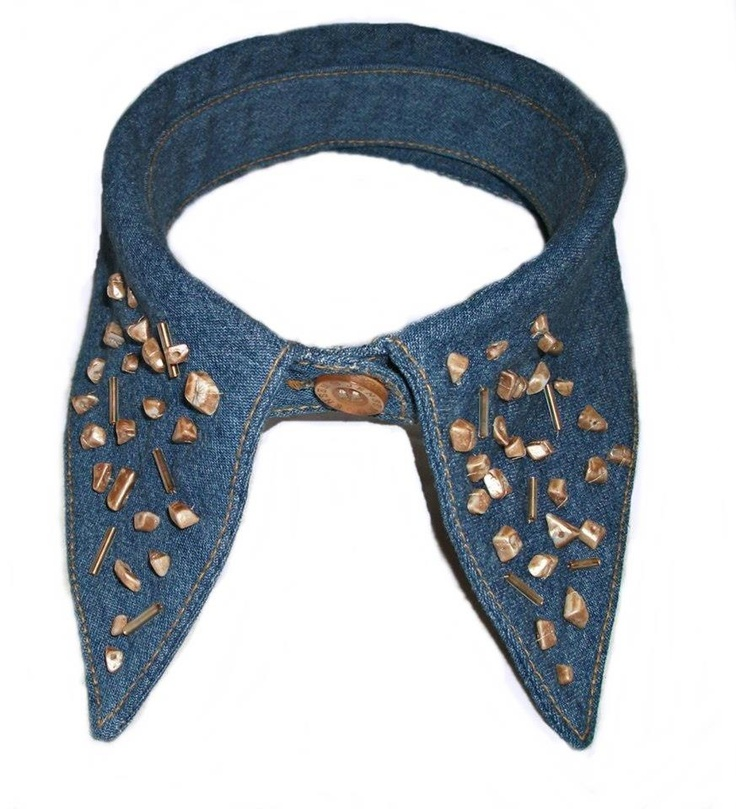 Detachable denim collar