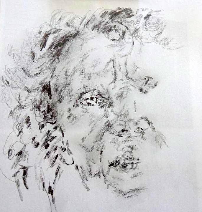 self portrait - pencil drawing Atelierhansen.dk
