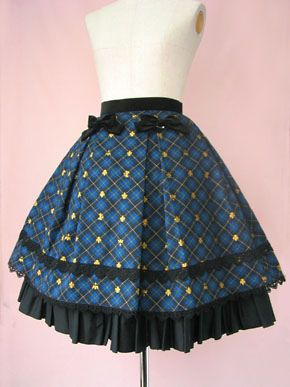 Lolibrary | Victorian Maiden - Skirt - Crown Tartan Ribbon Skirt