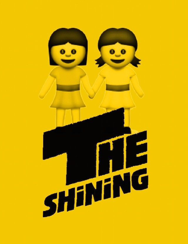 The Shining (1980) - Artist Sasha Zabelina redesigns famous movie posters with emojis in her series, Emoji Films.
