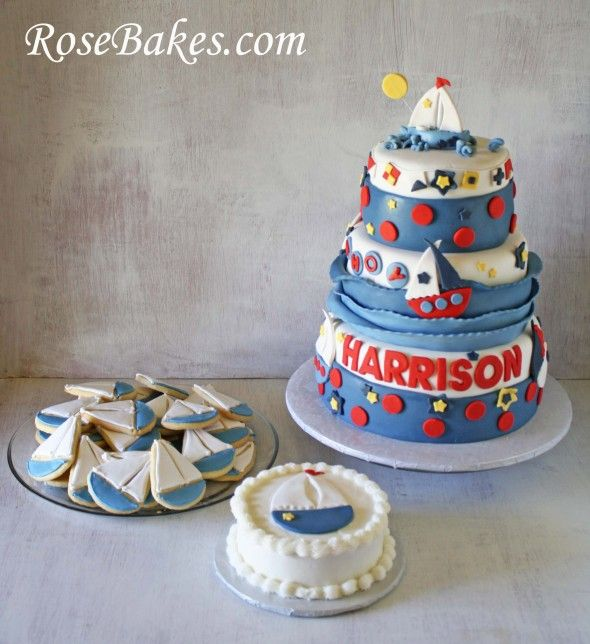 32 Over The Top First Birthday Cakes: 17 Best Images About 1st Birthday Party Nautical Theme On