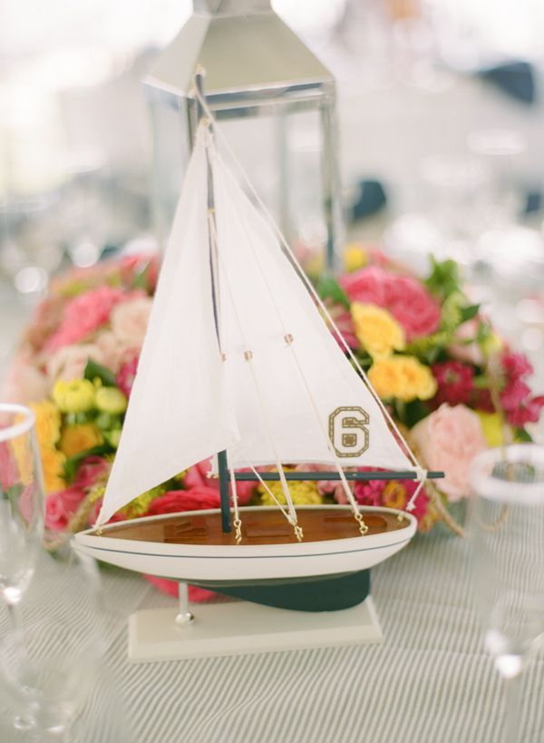 Nautical Chesapeake Bay Wedding. Nautical Table CenterpiecesTable ...