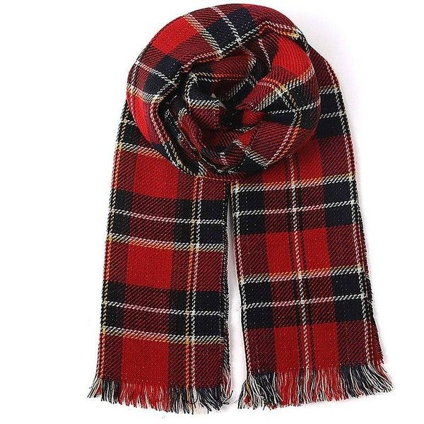 Yoins Yoins Red Wrap Scarf ($14) ❤ liked on Polyvore featuring accessories, scarves, red, scarves & shawls, plaid wraps shawls, tartan plaid shawl, wrap scarves, red shawl and tartan shawl
