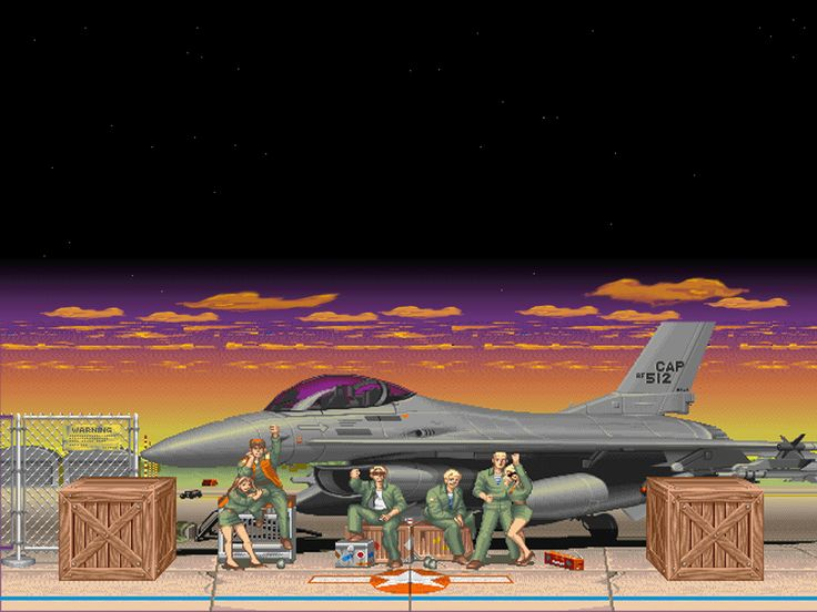Street Fighter II, Guile's stage