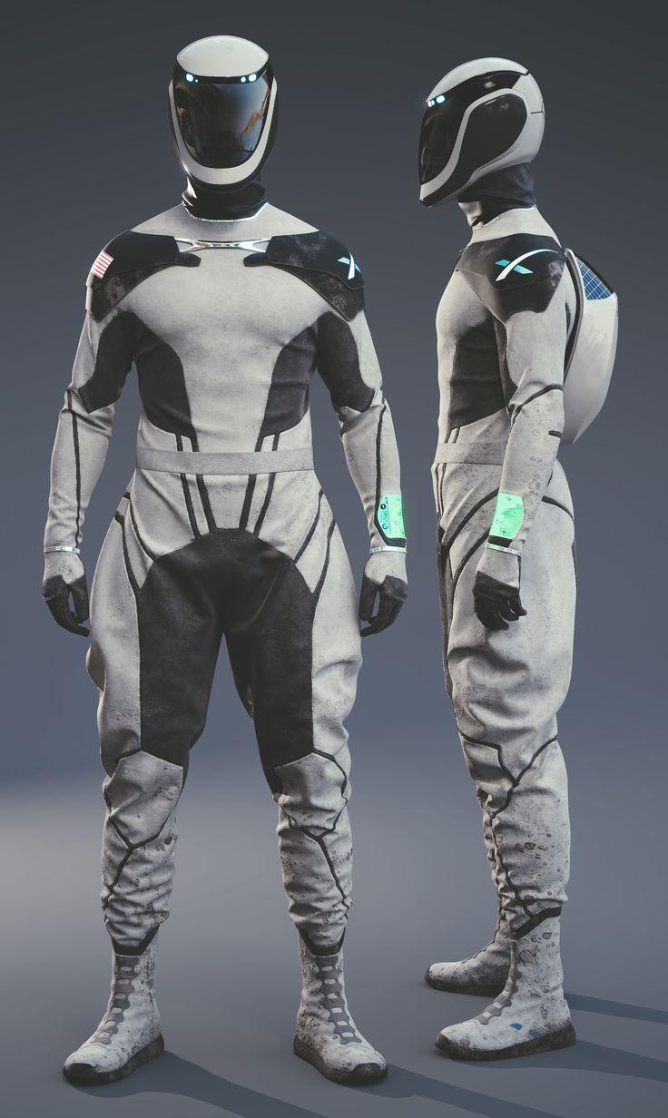 ArtStation - SpaceX Space Suit Concept, Lucas Valle ...