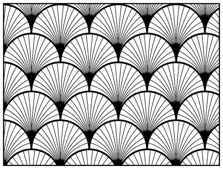 Motif Art Déco à colorier - Style n°2, Dans la galerie : Art Deco