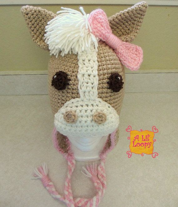 Free Crochet Pattern For Horse Hat : 17 Best images about children crochet hat & scarf on ...