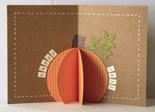 Other shapes as well.Pop Up Halloween Cards, Fall Pop, Pumpkin Pop, Pumpkin Cards, Pop Up Pumpkin, Fall Cards, Stampin Up Pumpkin, Fall Pumpkins, Halloween Pop Up Cards