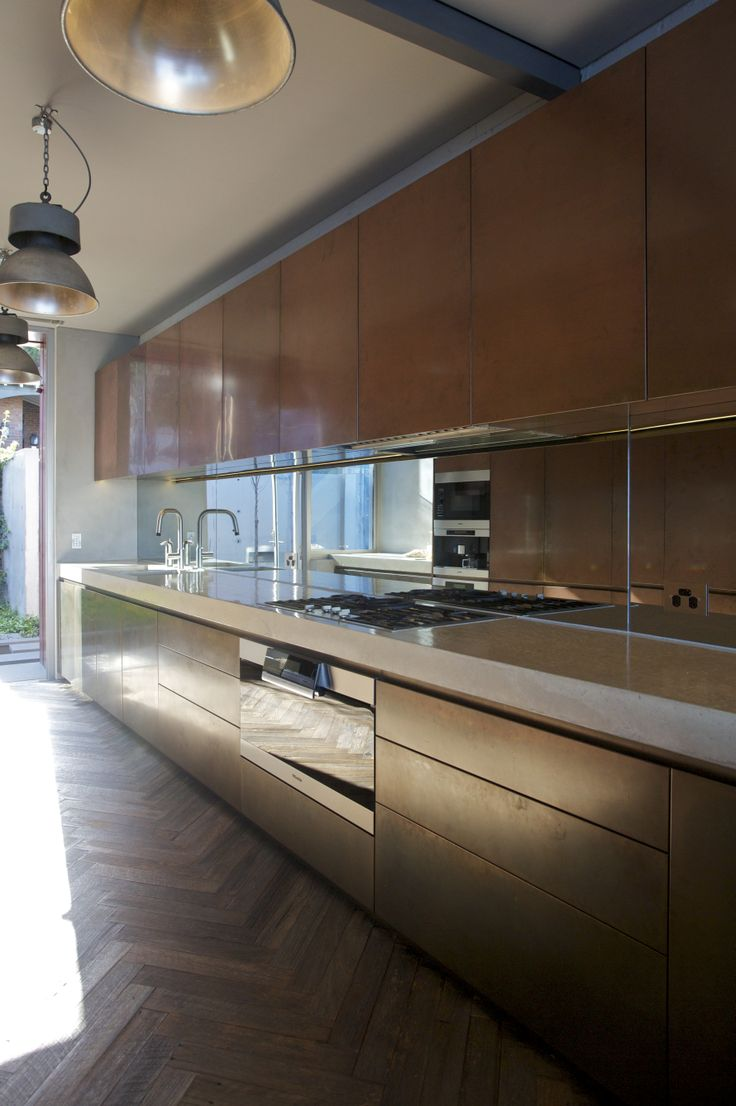 W House Copper Kitchen - Bruce Stafford Architects