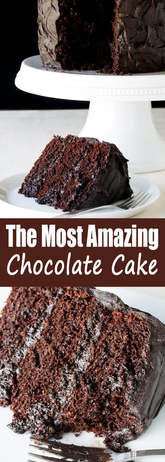 The Most Amazing Chocolate Cake is here. I call this my Matilda Cake because I swear it's just as good as the cake that Bruce Bogtrotter ate in Matilda. Moist chocolaty perfection. This is the chocolate cake you've been dreaming of! #cakerecipe #sweetstuff
