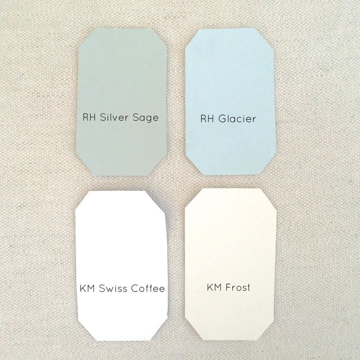 Restoration hardware silver sage and glacier kelly moore swiss coffee