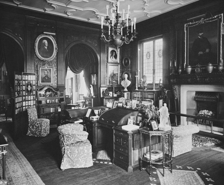 The Royal Collection: King Edward VII's Study, Marlborough House. [Marlborough House, 1912]