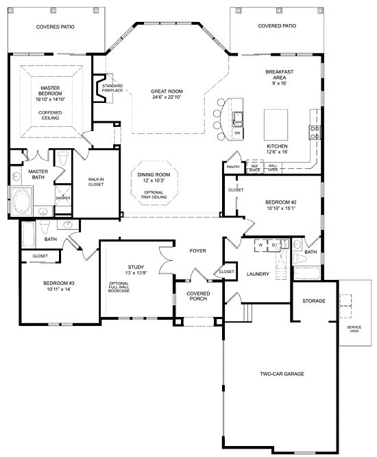 Open Floorplan I Like This House The House Plans In My Head Pinterest Log Homes