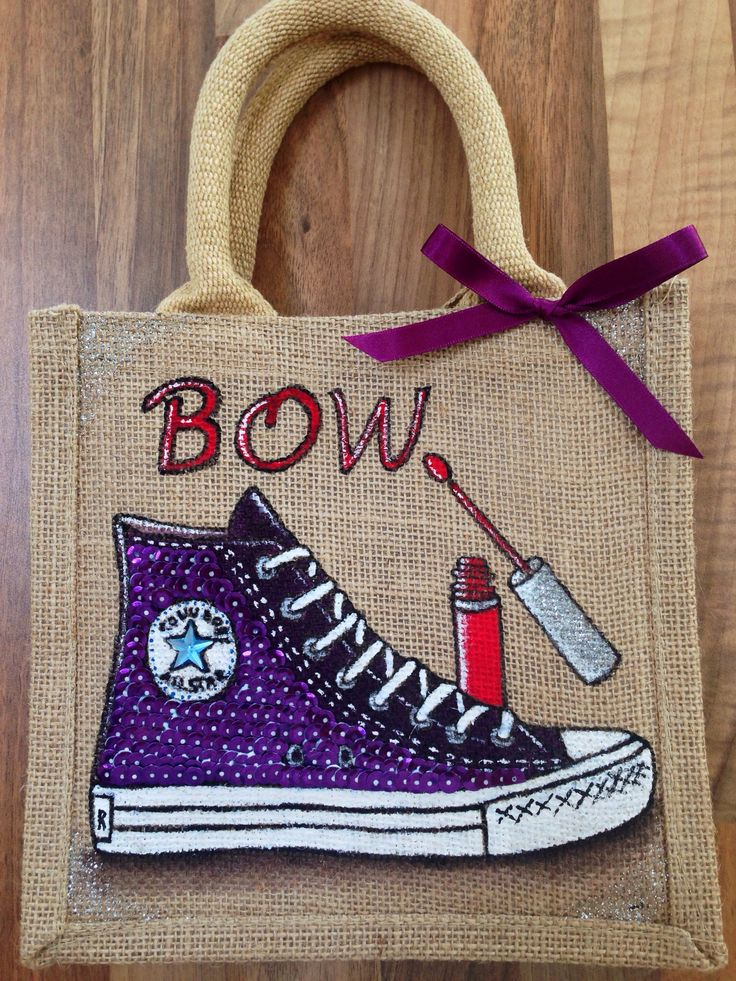 Emily-em Original Bag Designs......Another sparkly Converse bag!