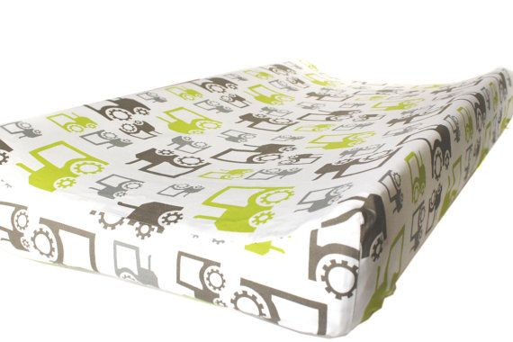 Hey, I found this really awesome Etsy listing at https://www.etsy.com/listing/180137328/changing-pad-cover-in-tractors-nursery