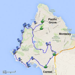 How to Make the Most Out of Carmel's 17-Mile Drive: 17-Mile Drive Map