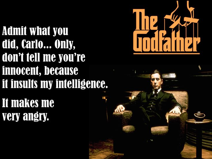 """...It Insults my intelligence..."" hah! Michael Corleone, The Godfather #godfather #godfatherquotes #michaelcorleone"