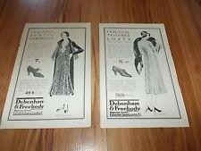 DEBENHAM & FREEBODY CLOTHING-Lot of 2 vintage adverts