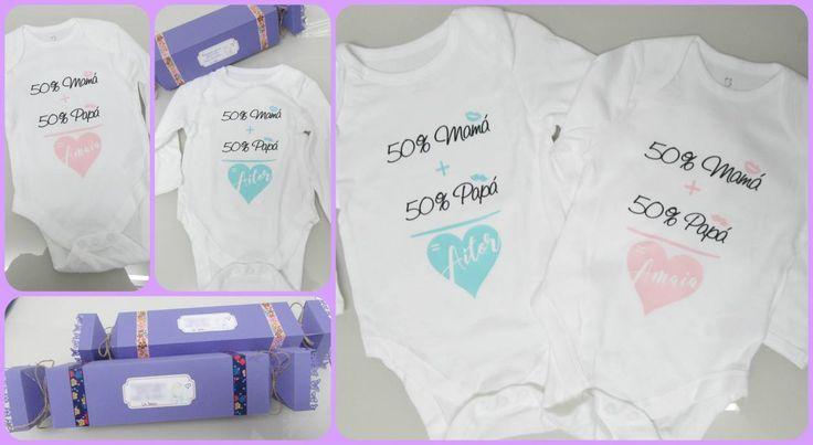 Bodys bebé personalizados. Con envoltorio en forma de caramelo (video explicativo)
