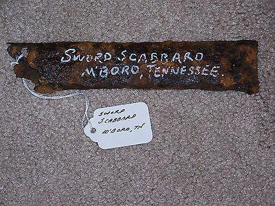 104 best civil war murfreesboro tn images on pinterest civil war dug sword scabbard murfreesboro tennessee battle of stones river malvernweather Gallery