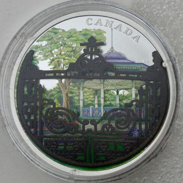 2018 $30 Halifax Public Gardens, Gardens of Canada, 3-D Gate, 2 oz. Pure Silver