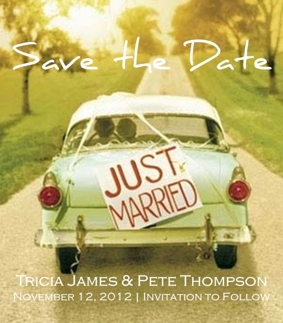 Save The Date Magnets Just Married Car Designed By Ajinvites 29 99