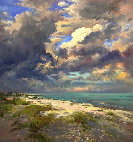 Shell Beach South oil on canvas Steven Scott