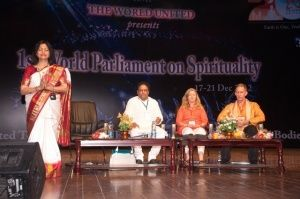 At the 1st World Parliament on Spirituality. India 2012