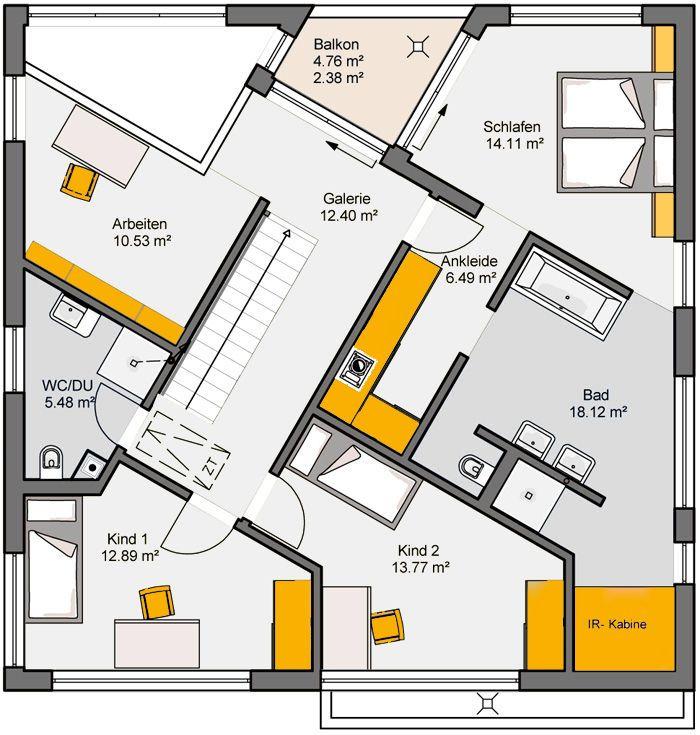 515 besten traumh user bilder auf pinterest architektur grundriss einfamilienhaus und haus. Black Bedroom Furniture Sets. Home Design Ideas
