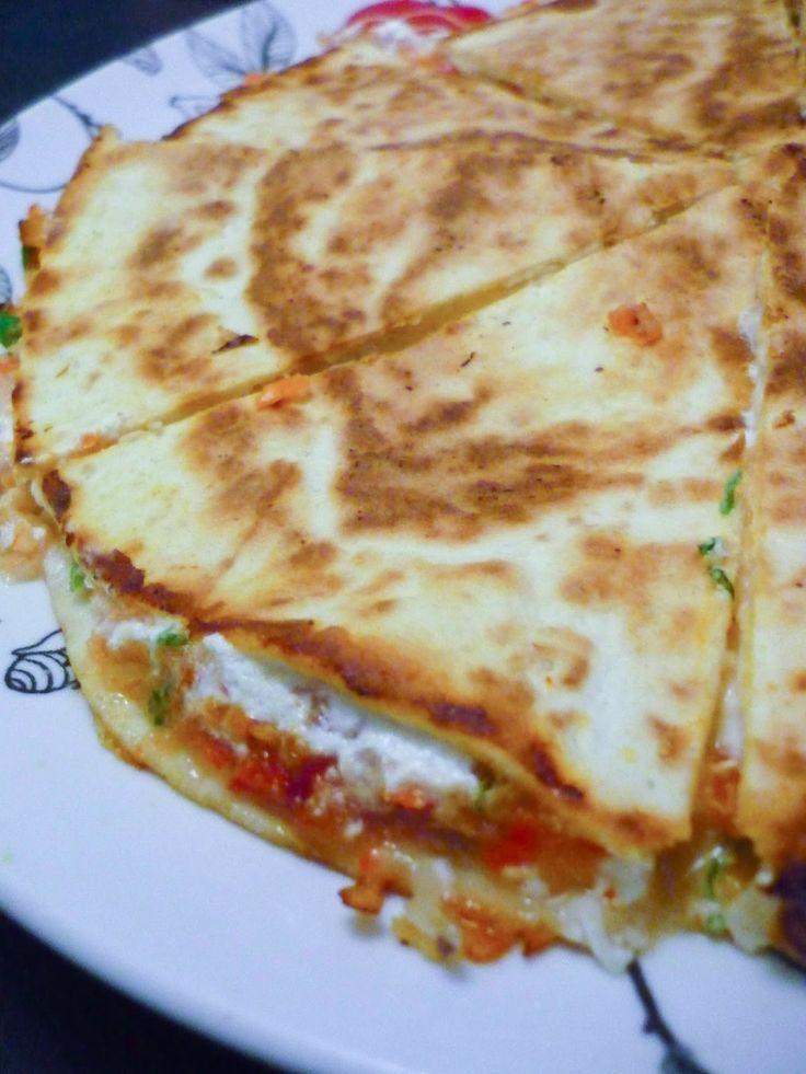 La Bonne Graille: Quesadillas au chèvre, à la tomate et au poivron
