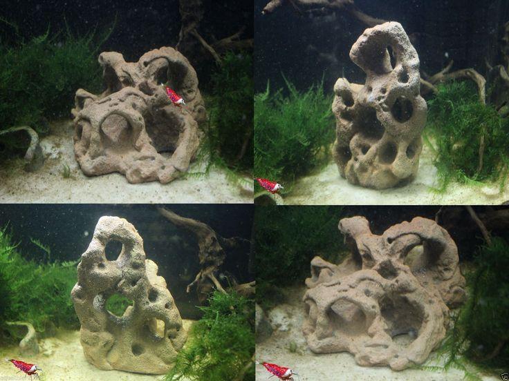Loch Felsen 2er Set - Höhle - Deko - Aquarium - Krebse - Fische - Garnelen | eBay
