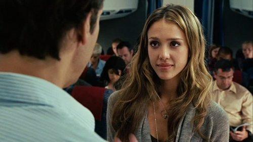 Jessica in Good Luck Chuck - jessica-alba Screencap-- love her hair here.