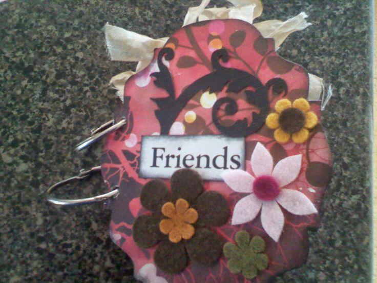 Mini Album using felt flowers for embellishments