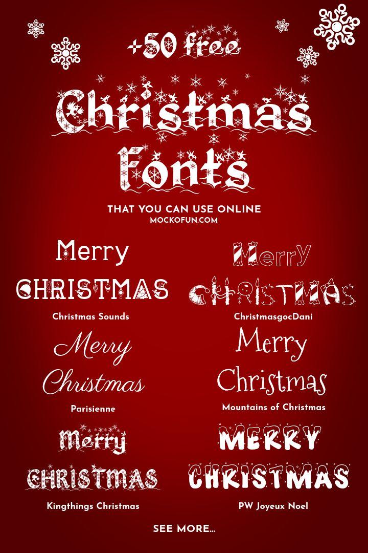 Christmas Fonts Christmas Fonts Christmas Fonts Free Christmas Card Writing