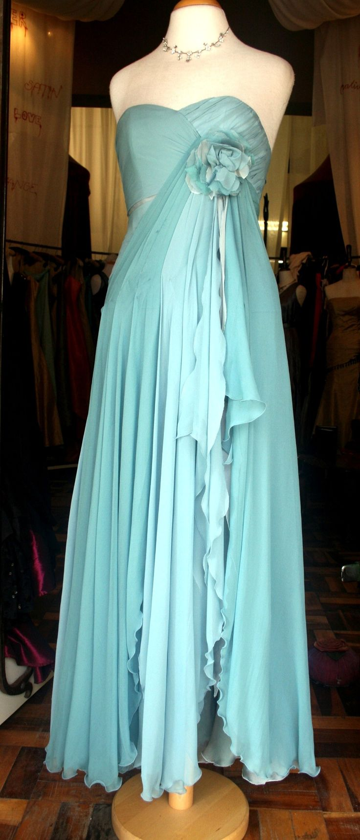 Tracy Cummings wedding dress Pure Silk Chiffon Made by Mystic Rose