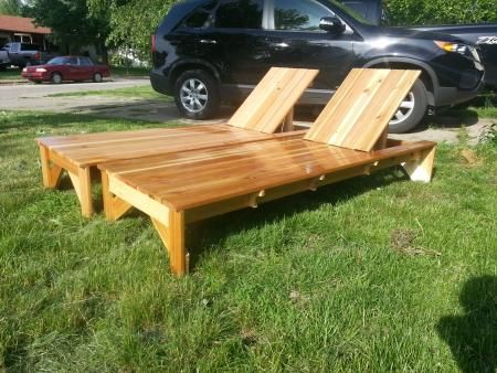modified cedar chaise lounge | Do It Yourself Home Projects from Ana-White.com