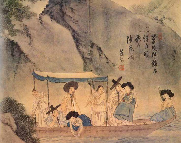 Shin Yun-bok - A Boat Ride