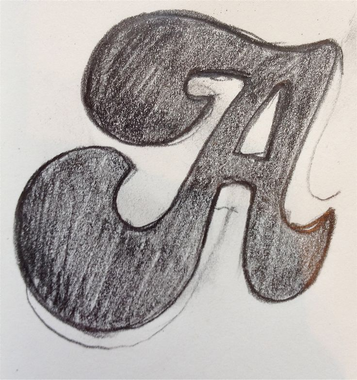 'A' drawing for kit - design at www.madinengland.com
