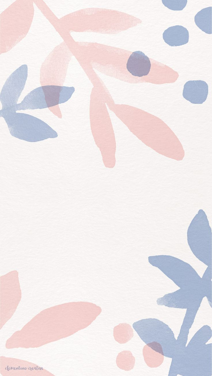 Wallpaper, Pink and Blue, Floral