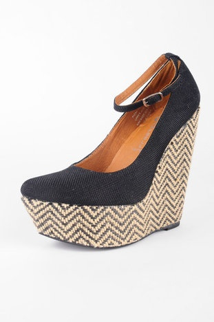 Jeffrey Campbell Pizan Roped Wedges in Black. LOVE THESE!