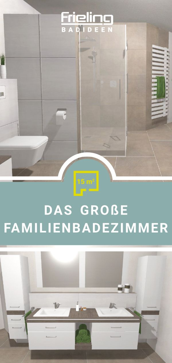 Das Grosse Familienbadezimmer 15 Qm Grosse Badezimmer Baden Badezimmer