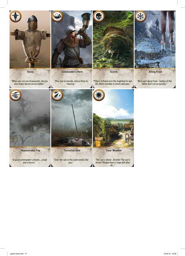 Complete Printable Gwent Cards High Resolution Playing Cards Design Cards The Witcher