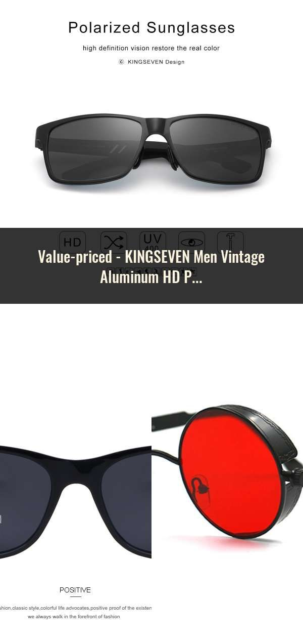 0e13b0e1c9f KINGSEVEN Men Vintage Aluminum HD Polarized Sunglasses Classic Brand Sun  glasses Coating Lens Driving Shades For