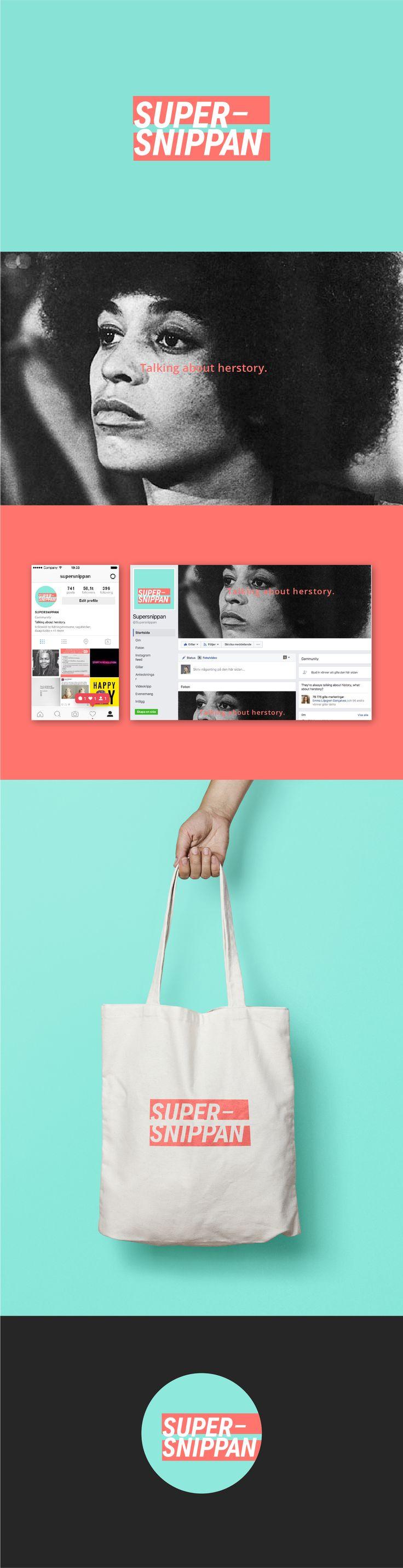 Branding for Supersnippan by Sandra Liljegren